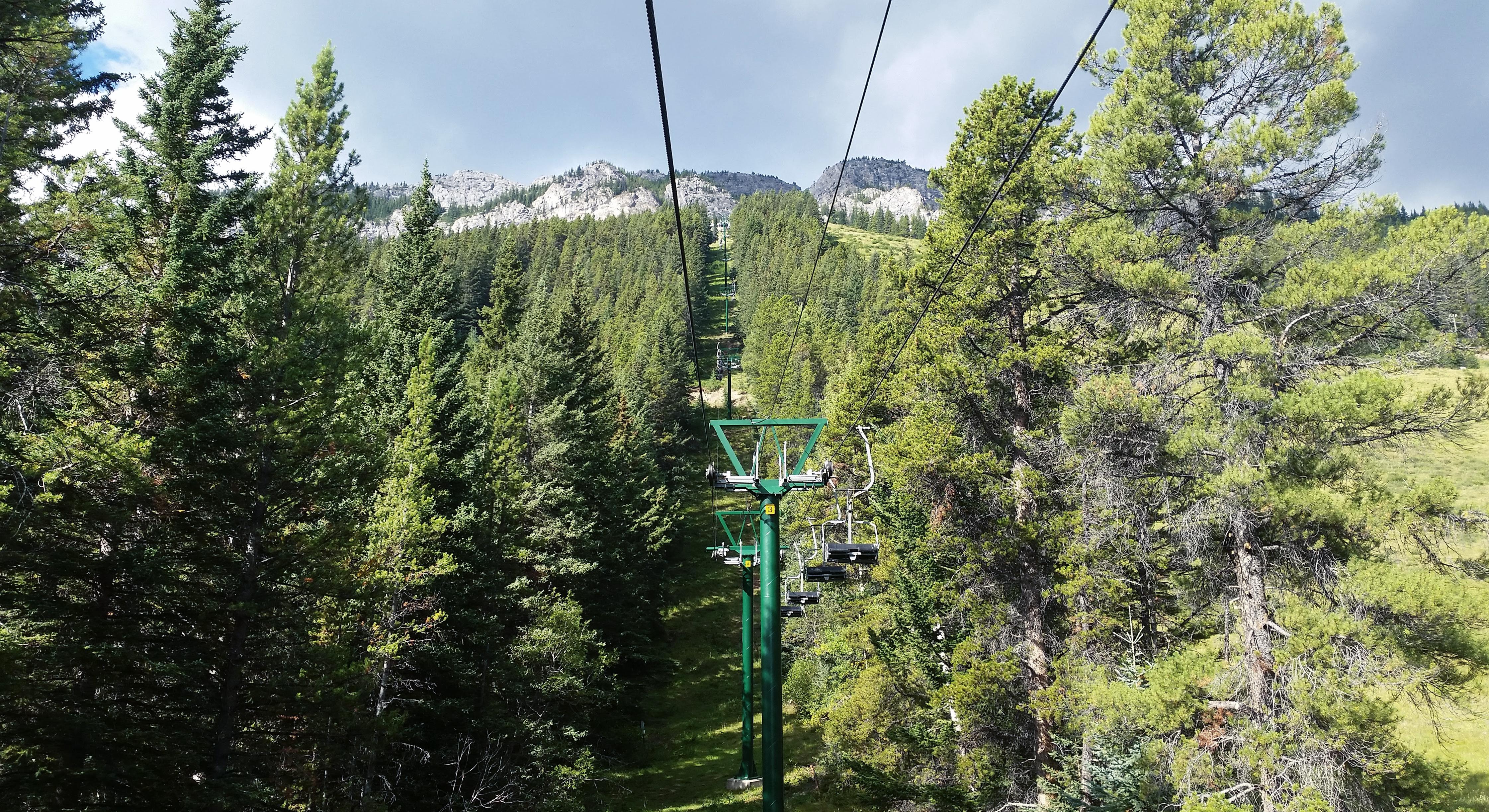 Via Ferrata à Norquay dans la ville de Banff en Alberta