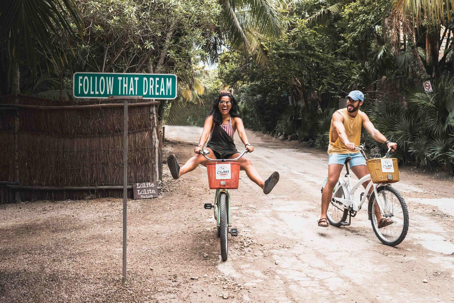 biking around tulum mexico