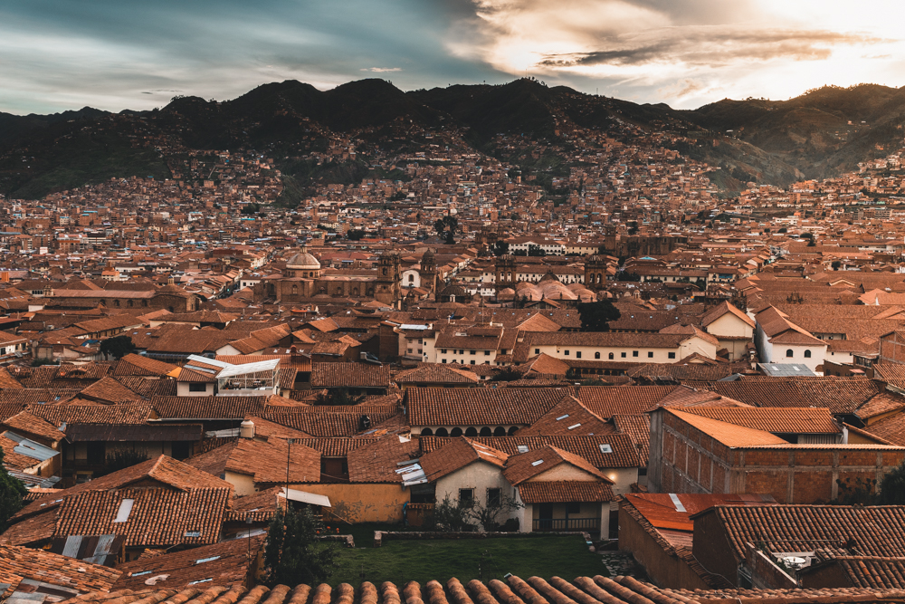 Cusco sunset view