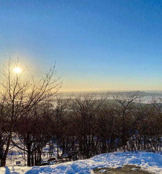 Sommet Le Dieppe Activité hivernale Mont-Saint-Hilaire